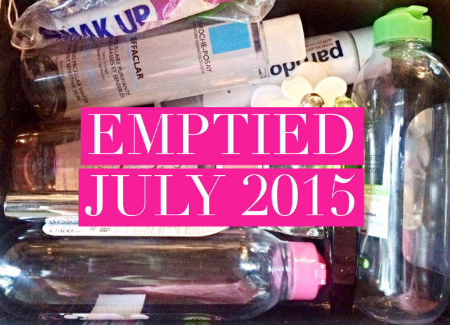 Beautyproducts Emptied July 2015