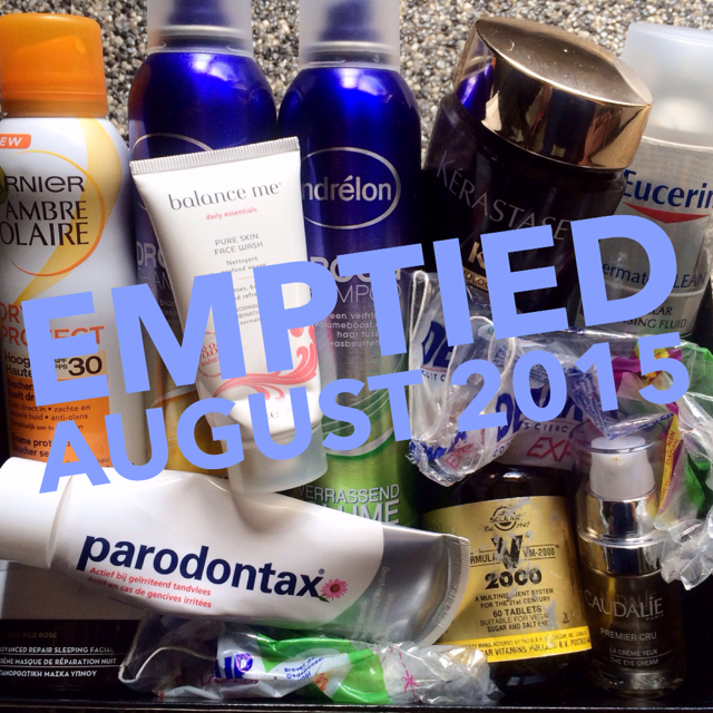 Beautyproducts emptied