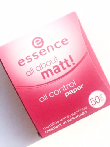 ssence all about matt! oil control paper