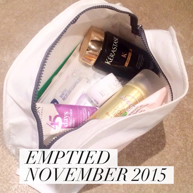 Emptied Beautyproducts November 2015