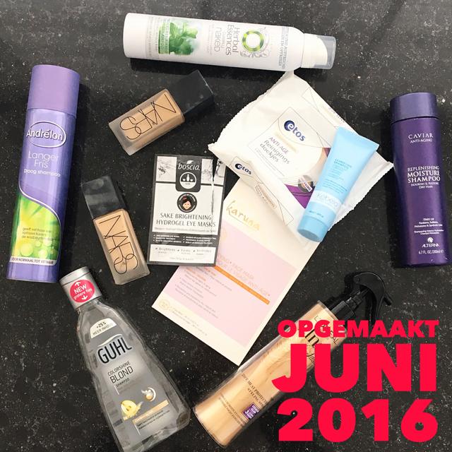 Opgemaakt beauty producten juni 2016