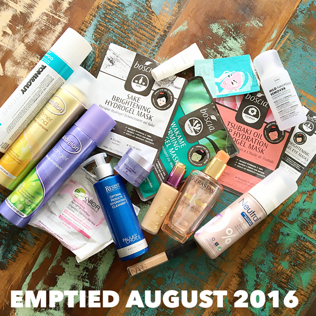 Emptied Beauty products