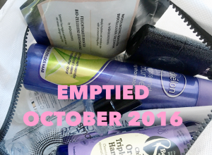 Emptied Beauty Products October 2016