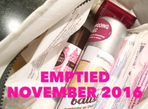 Emptied Beauty Products November 2016