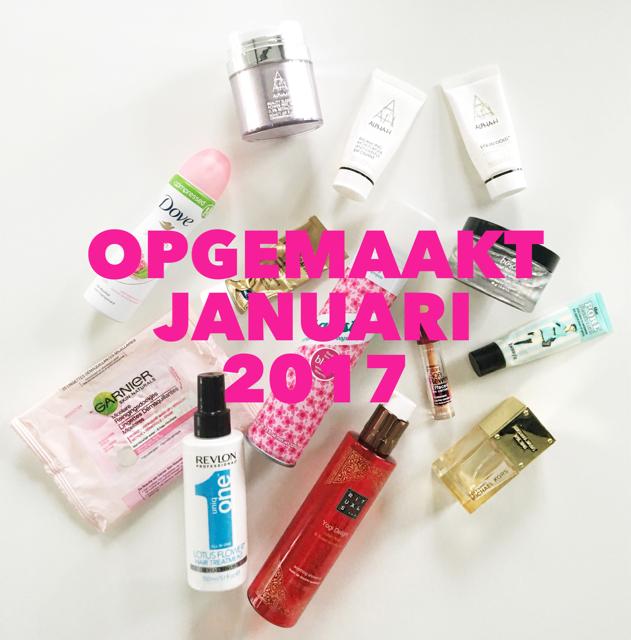 Opgemaakt januari 2017 beautyproducten