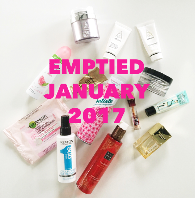 Emptied Beauty Products January 2017