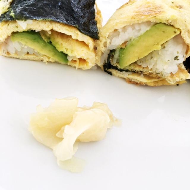 Easter Breakfast Omelet Sushi Wraps
