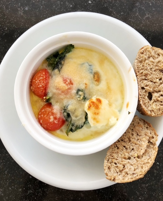Oeuf cocotte recipe as Easter breakfast