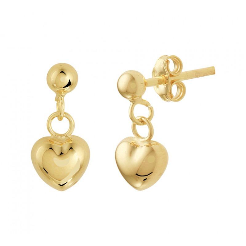 gouden-oorbellen-met-hanger-hart